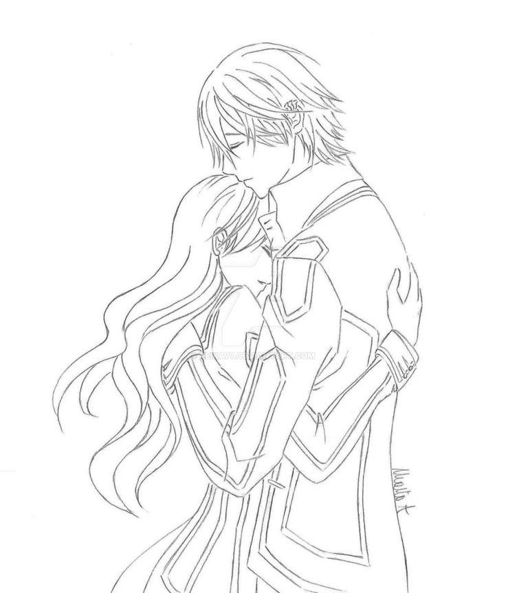 RxZ by Reika77.deviantart.com on @DeviantArt  #vampire #vampireknight #kiryu #zero #couple #manga