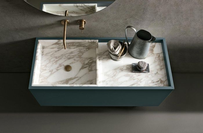 Must: Small vanity - An Italian stylish bathroom collection designed by Willy Dalto, manufactured by Altamarea