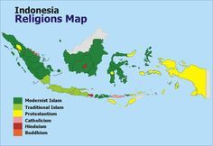 Map of Indonesian Religions
