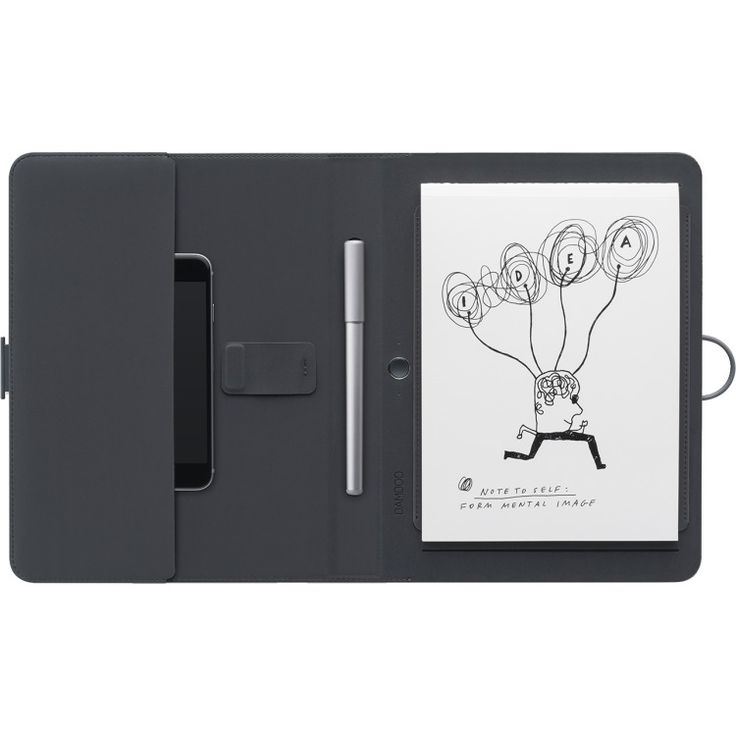 Bamboo Spark - Smart folio with gadget pocket  De Bamboo Spark is een slimme folio met een slimme balpen en een plek voor je papier. Schrijf met de hand druk op de knop en stuur je op papier handgeschreven notities naar de Bamboo Spark app om verder te bewerken. Gebruik daarnaast de Wacom Cloud voor het archiveren delen en krijg overal toegang. Leg handgeschreven notities op elk type papier vast en met een druk op de knop wordt je handgeschreven informatie opgeslagen in de Bamboo Spark app…