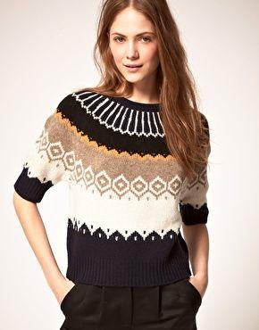 Fairisle Crop Sweater. $199.98