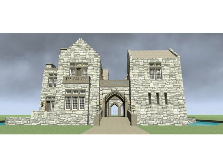 ePlans  European House Plan – Classic Scottish Castle - 4357 Square Feet and 3 Bedrooms from ePlans – House Plan Code HWEPL76759