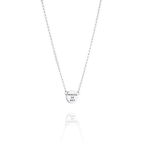 Efva Attling Mini Pencez Sterling Silver Disc Necklace