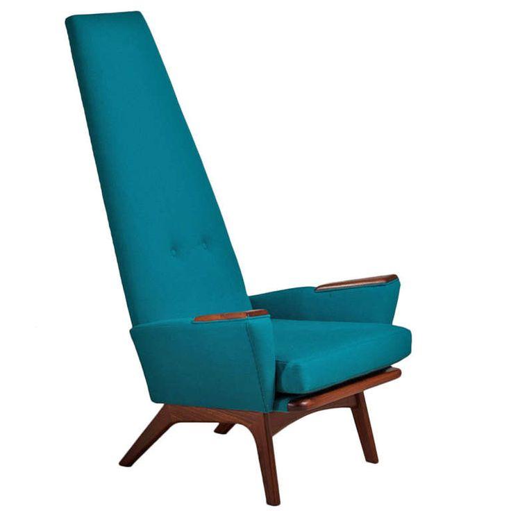 A Walnut Framed Highbacked Armchair By Adrian Pearsall 1960s
