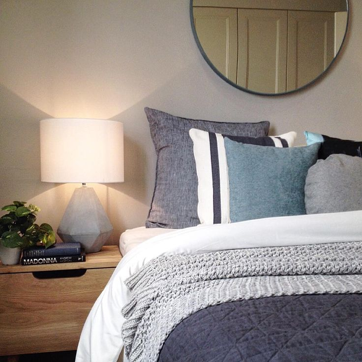 """The Hired Home on Instagram: """"Recently styled by #thehiredhome. #bedding #bedroom #bedlinen #bedroominspo #roundmirror #oak #concrete #teal #charcoal #homedecor #bedding #presalestyling #propertysydney #propertystyling #propertystylingsydney #homestaging #homestagingsydney #interiorstyling #interiorstylingsydney #realestatestyling #realestatestylingsydney #interior #interiorlove #sydneyproperty #sydneyrealestate #realestatesydney #sydneypropertystyling #sydneyinteriorstyling…"""