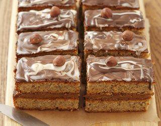 Ciasto orzechowe z toffi i czekoladą