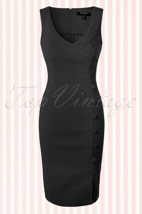 Fever Julia Black Pencil Dress  100 20 13949 20150302 0003W