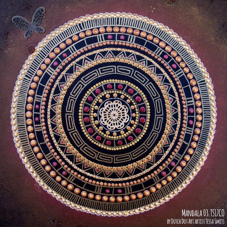 абстрактные картины искусства точка MANDALA 03TS17CO Тесса Смитс полный