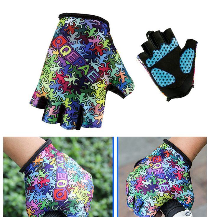 1 Pair Ridding Gloves Half-finger Outdoor Sports Fitness Ttraining Protection Gloves MTB Road Foldable Bicycle Riding Equipment #Affiliate