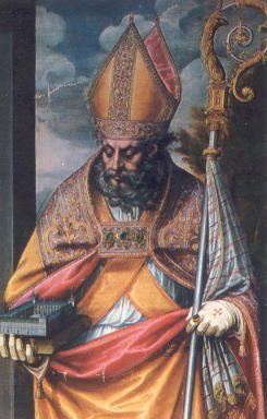 St. Augustinus van Hippo. - Devotieprentje. Spanje.