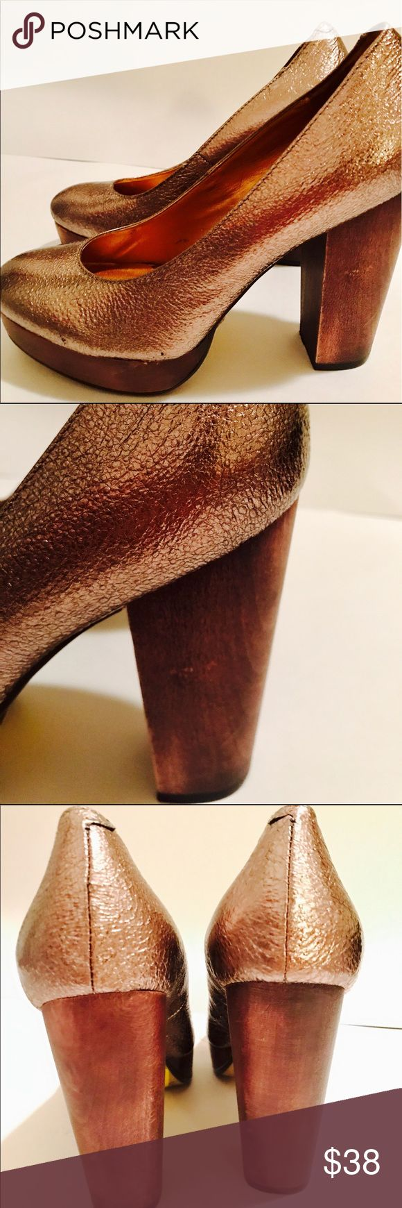 "Seychelles Copper Pump Round Toe / like New! Seychelles Copper Pump Round Toe / like New! / 4"" heel Seychelles Shoes Heels"