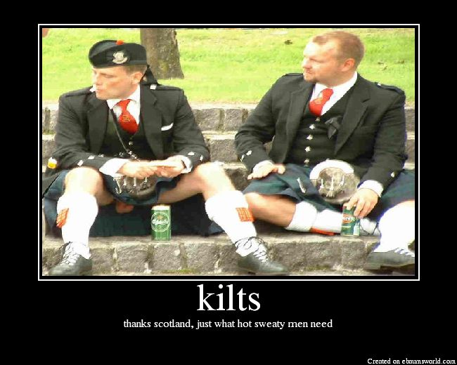 guess we know what's under his kilt