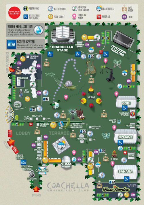 Continuing the festival vibe- will create music festival style maps and signage for the big day
