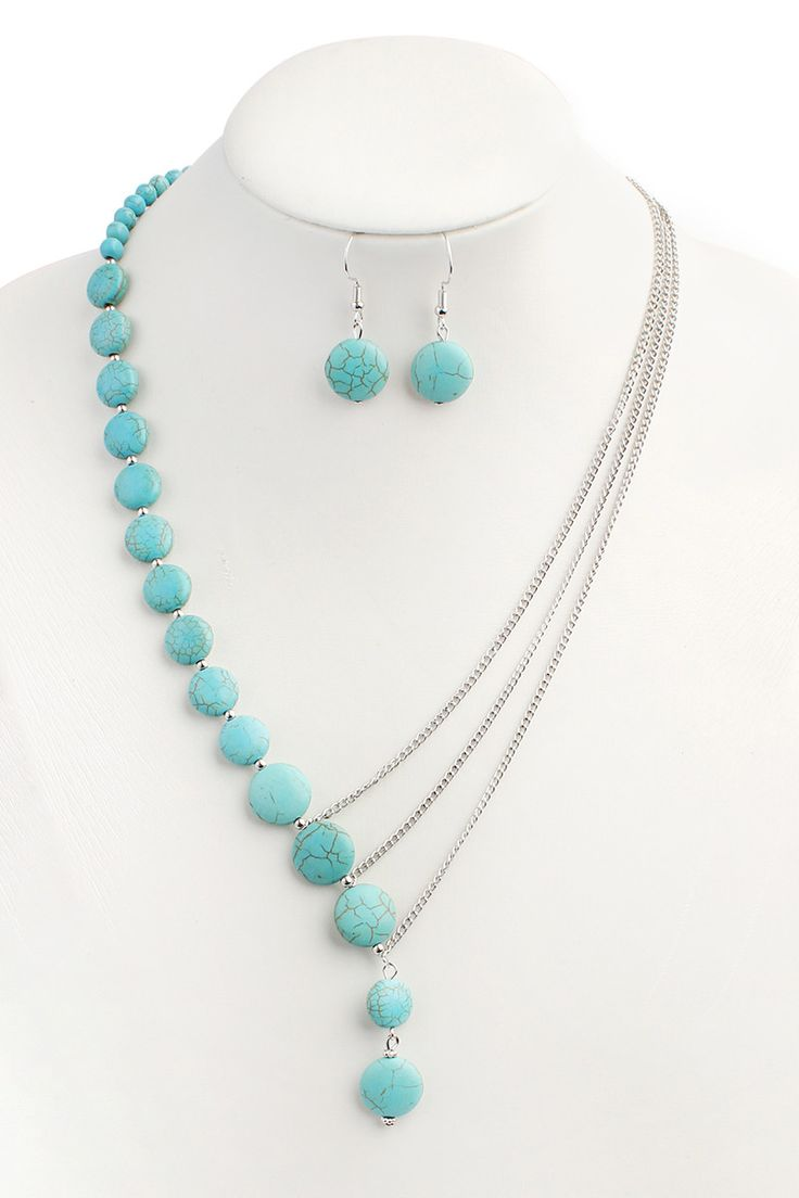 Turquoise Split Necklace Set