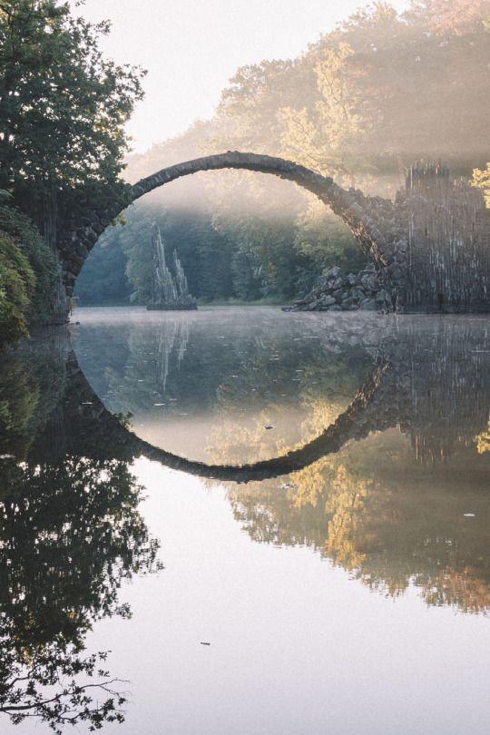 Rakotz Bridge during Sunrise