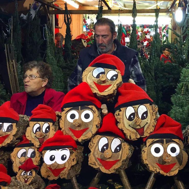 Cute or creepy? At the #barcelona #Christmas Market. #travelgram