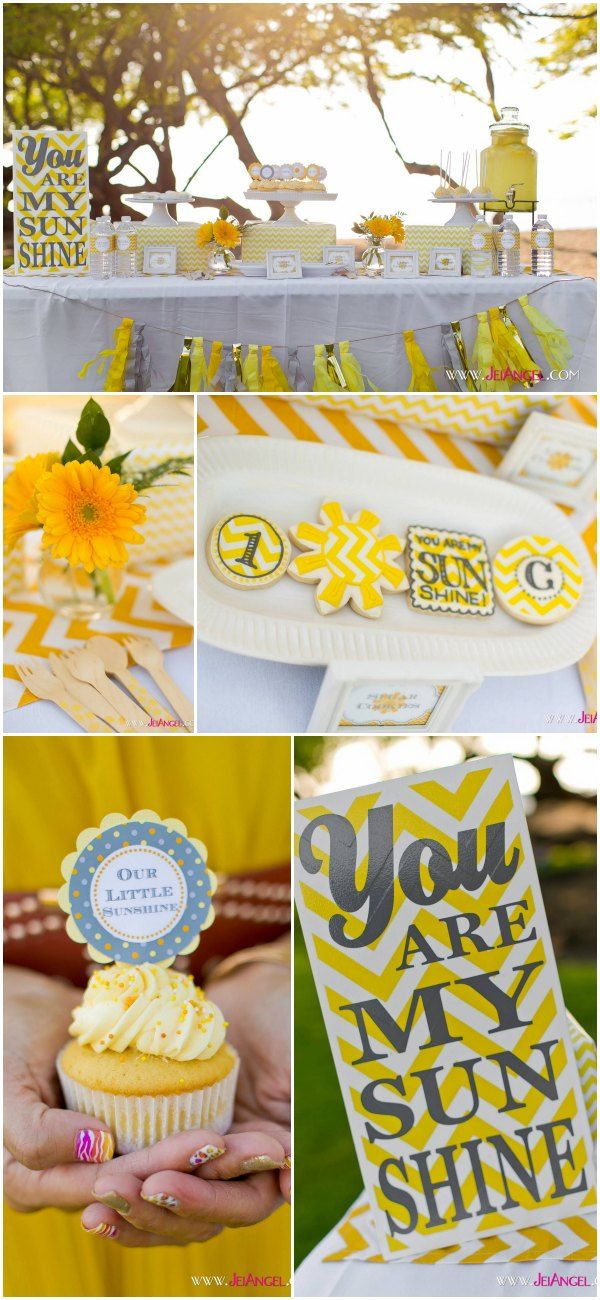 You Are My Sunshine - fun and bright theme for birthday or baby shower