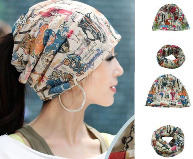 Details about Fashion Women Stretch Beanie Turban Hat Head Scarf Wrap Chemo Bandana Hijab Cap