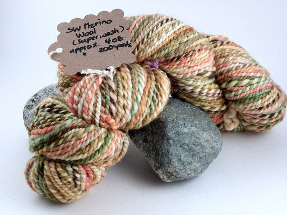 Superwash Merino Wool Handspun Yarn  Browns by KnittersNook, $25.00