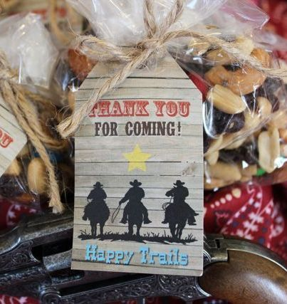 Happy Trails is a fun theme for a retirement party. Learn how to make these favor tags.