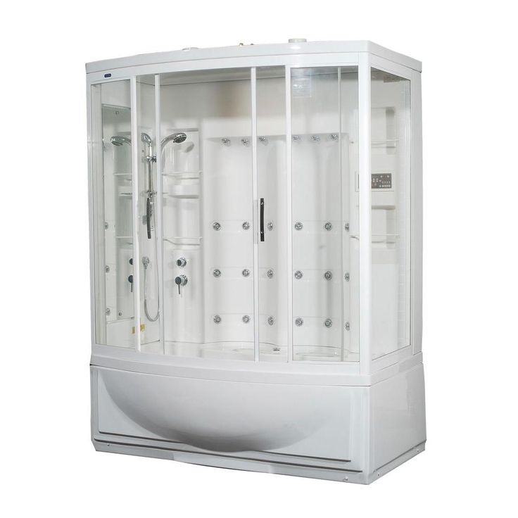 Aston ZAA210 68 in. x 41 in. x 86 in. Steam Shower Left Hand Enclosure Kit with Whirlpool Bath in White