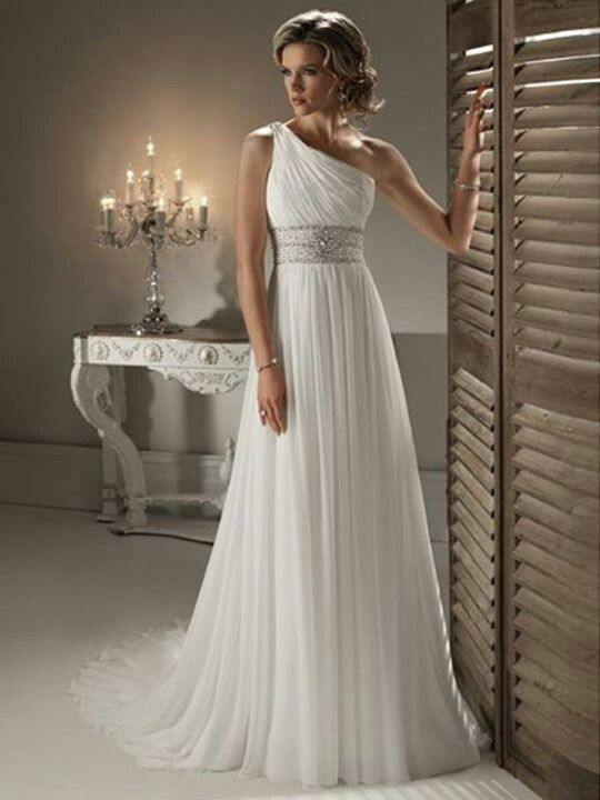 Grecian goddess wedding dress whitney 39 s wedding may 2015 for Grecian goddess wedding dresses
