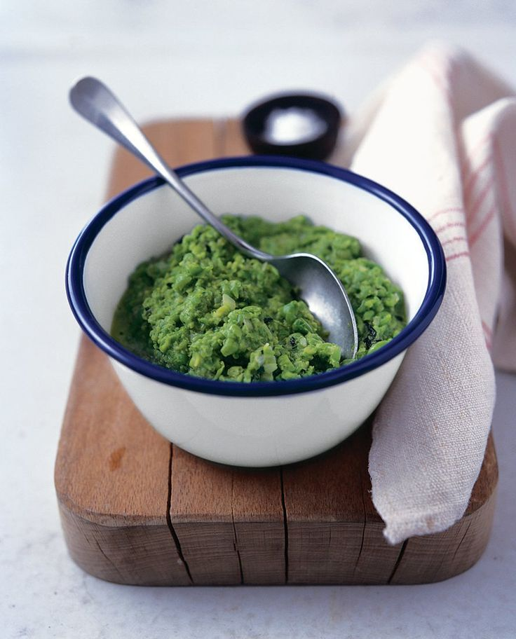 This minted pea purée will go with lots of main meals such as fresh fish, roast chicken or griddled steak.