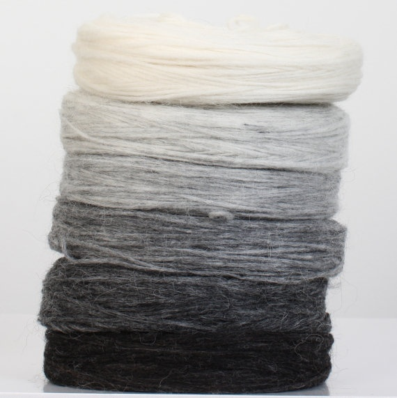 Icelandic un spun Lopi - greyscale stack