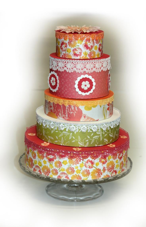 Gescrapte taart (van papier)