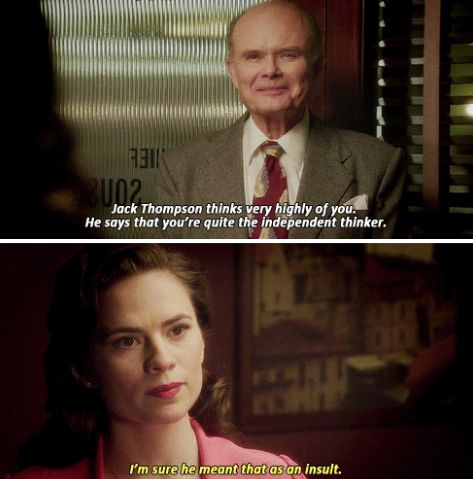 """I'm sure he meant that as an insult"" - Peggy and Vernon Masters #AgentCarter"