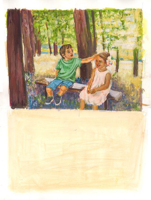"""Εικονογραφηση απο την Αγλαΐα Περρακη για το παραμυθι 'Πως έμαθα να χαμογελω"""""""