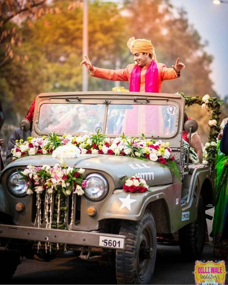 Jeeps is a must for army brats to enter on their wedding  #trending #trendsettingentry #glamorousentry #funfilledgroomentry #trendsetter #beautifulbride #entryinspirtion, #trending #trendsettingentry #glamorousentry #funfilledgroomentry #trendsetter #beautifulbride #entryinspiration #entryideas #weddingevent #weddingphotography #bestbridalentry