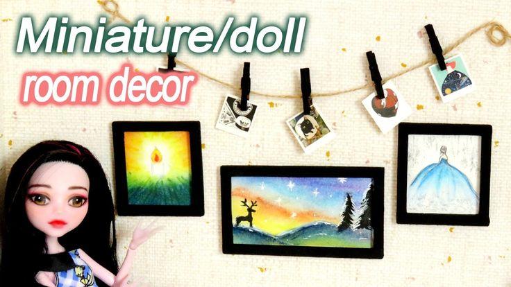 미니어쳐/인형 방 벽 꾸미기! 그림 액자,폴라로이드사진 miniature/doll picture frame,Polaroid pic...