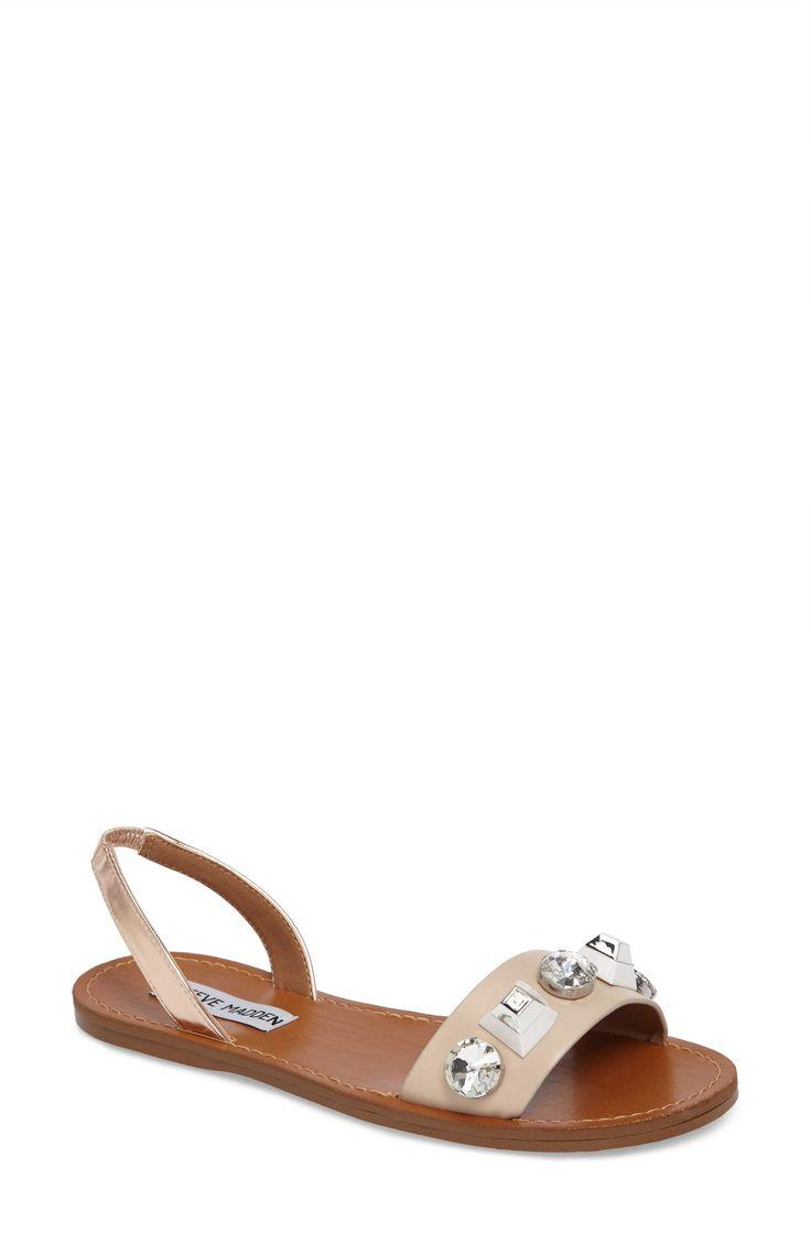 Ameline Embellished Flat Sandal. Jeweled SandalsVacation StyleFlat SandalsFlatsSteve  MaddenApartmentsBallerinasFlat Shoes