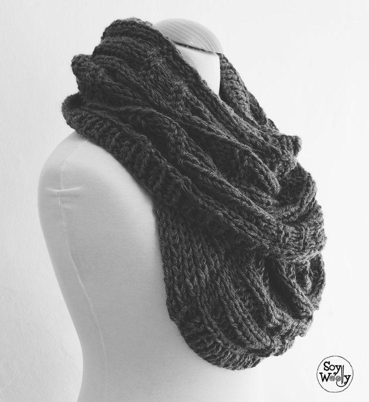 50 best bufandas y otros accesorios images on Pinterest   Tejidos de ...