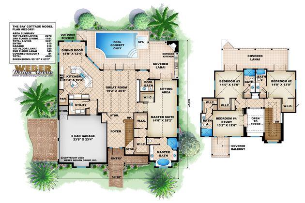 Coastal Floor Plan   Bay Cottage Floor Plan