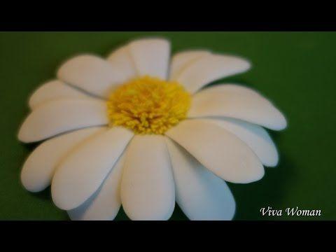 Ромашка из фоамирана своими руками. Мастер класс. Рукоделие / Chamomile foam handmade. Master Class - YouTube