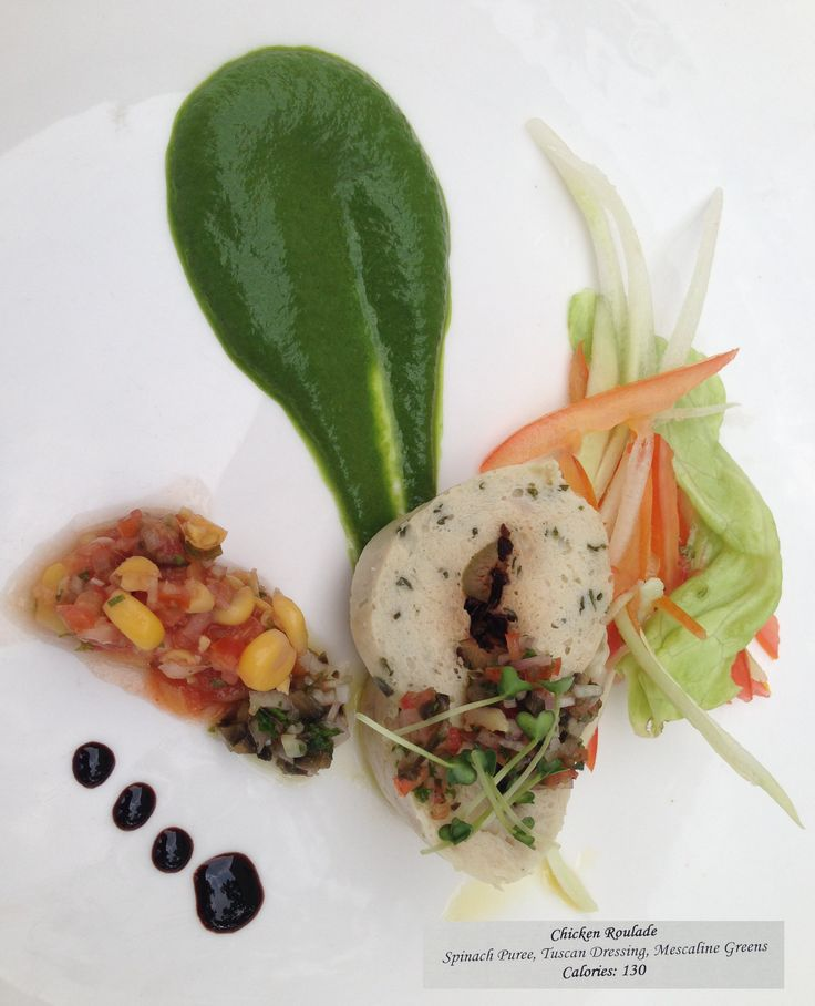 Ananda in the Himalayas - wellness menu - 24 September 2013 - Chicken Roulade #Ananda #Ayurveda