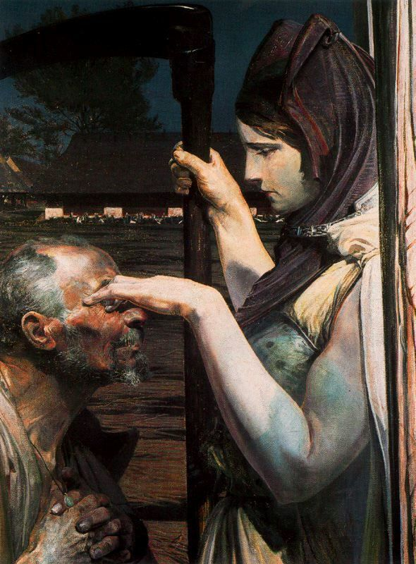 970811116: vaxhuvuden: sealmaiden: Jacek Malczewski Death 1902 Oil on canvas enter my loving embrace