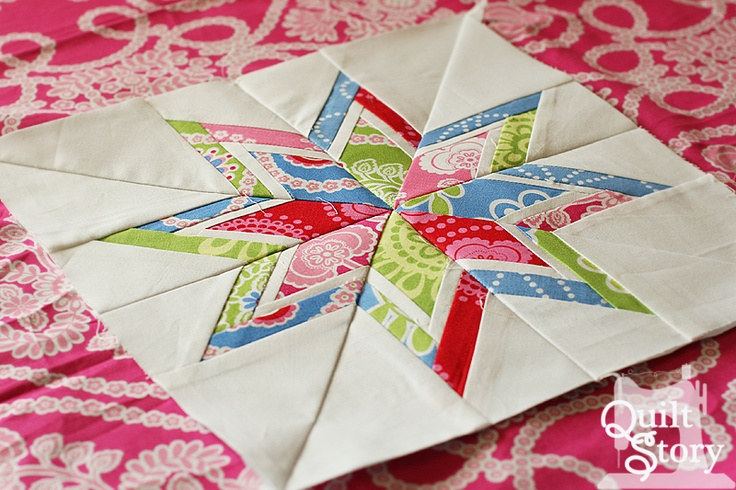 Quilt Story: Paper piecing tutorial.    Will work up the courage to try this someday!
