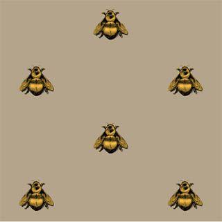 Napoleon Bee Linen Fabric By Timorous Beasties