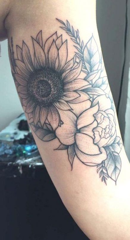 Best Tattoo Sunflower Arm Black Ideas, #Arm #Black #Ideas #Sunflower #Tattoo
