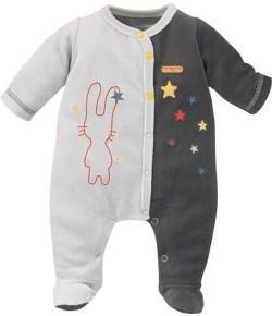 DORS BIEN VELOURS ANTHRACITE - Pyjamas, Dors-bien, Grenouillères - VETEMENTS : Bébé – Sucre d'Orge