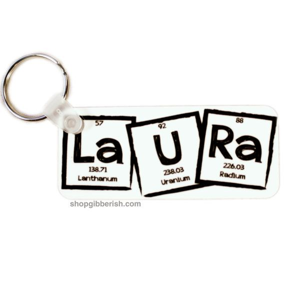 261 best gifts for nerds and geeks images on pinterest baby science keychain custom name i 3 nerds periodic table of elements chemistry teacher gift idea urtaz Gallery