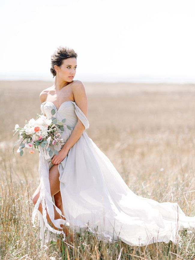 Charleston bridal portraits featuring a blue gown I Julie Livingston Photography