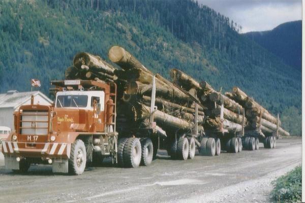 https://www.facebook.com/photo.php?fbid=10152658633002932 Rick van Viegen  Very last Hayes logging truck ever made. Hayes HDX logging truck. MacMillan Bloedel H 17HDX 45-115. This was the last Hayes ever built. Port Alberni B.C. Franklin River.