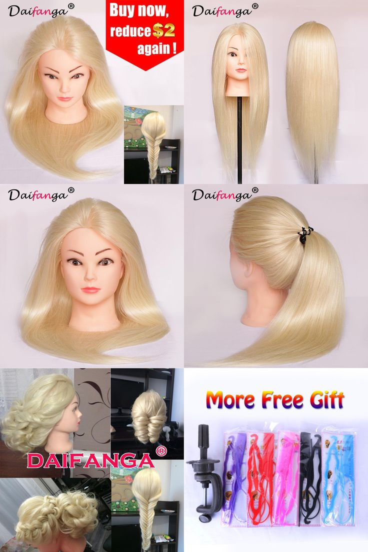 "[Visit to Buy] Hairdressing Training Heads 90% Human Hair 22"" #613 Mannequin Head With Long Hair High Quality Hair Practice Head For Sale #Advertisement"