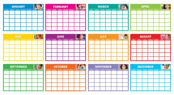 Calendar Photo Ideas For Each Month : Fill in monthly calendars bulletin board includes