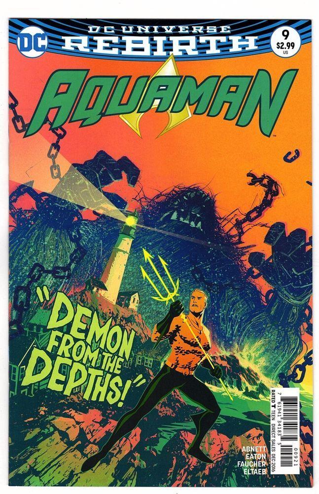 Vol Joshua Middleton Variant DC Aquaman 1st Print 8 # 9