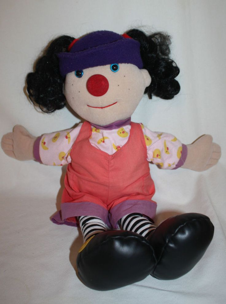 Sing Along With 24 Original Songs From The Big Comfy Couch. New Sealed CD.  Adorable  Doll In Good Condition, No Rips Or Tears.
